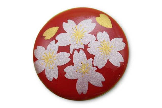 やきもの 焼き物 陶磁器 アクセサリー 小物雑貨 有田焼ゴルフマーカー(クリップ式) 赤銀桜