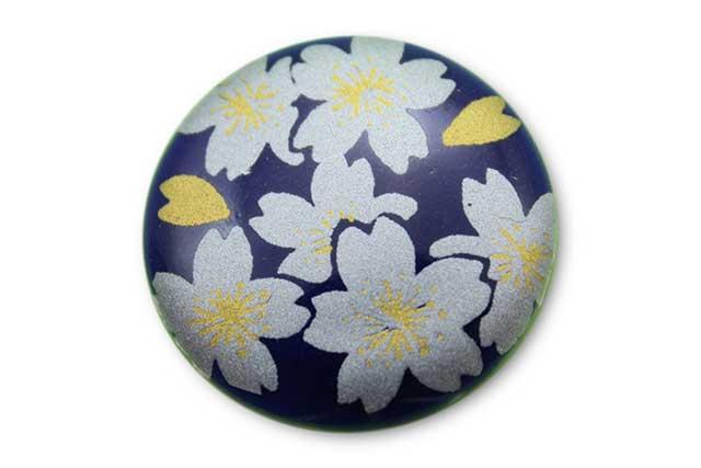 やきもの 焼き物 陶磁器 アクセサリー 小物雑貨 有田焼ゴルフマーカー(クリップ式) るり銀桜