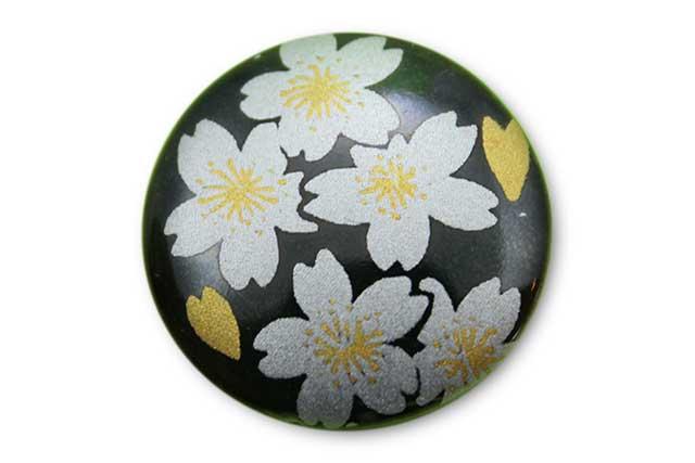 やきもの 焼き物 陶磁器 アクセサリー 小物雑貨 有田焼ゴルフマーカー(クリップ式) 黒銀桜