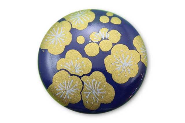 やきもの 焼き物 陶磁器 アクセサリー 小物雑貨 有田焼ゴルフマーカー(クリップ式) るり金梅