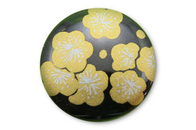 やきもの 焼き物 陶磁器 アクセサリー 小物雑貨 有田焼ゴルフマーカー(クリップ式) 黒金梅