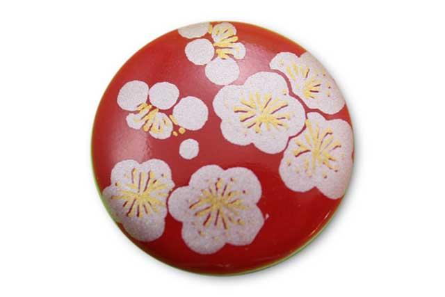 やきもの 焼き物 陶磁器 アクセサリー 小物雑貨 有田焼ゴルフマーカー(クリップ式) 赤銀梅