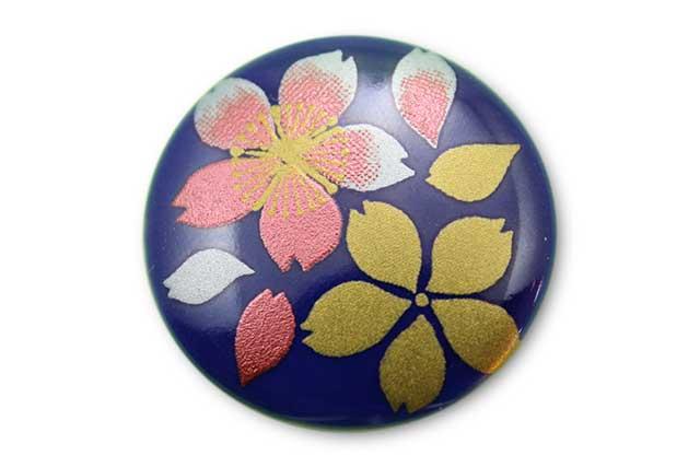 やきもの 焼き物 陶磁器 アクセサリー 小物雑貨 有田焼ゴルフマーカー(クリップ式) るり桜吹雪(赤)