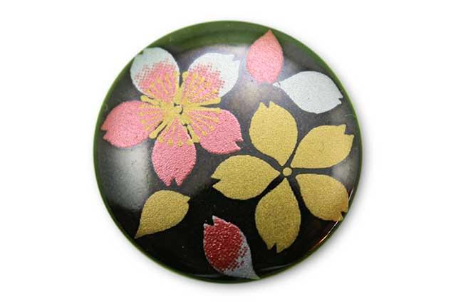 やきもの 焼き物 陶磁器 アクセサリー 小物雑貨 有田焼ゴルフマーカー(クリップ式) 黒桜吹雪(赤)