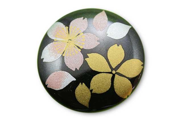 やきもの 焼き物 陶磁器 アクセサリー 小物雑貨 有田焼ゴルフマーカー(クリップ式) 黒桜吹雪(ピンク)