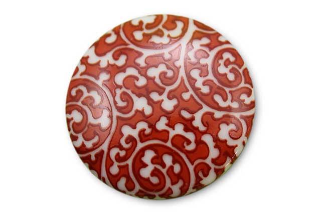 やきもの 焼き物 陶磁器 アクセサリー 小物雑貨 有田焼ゴルフマーカー(クリップ式) 赤唐草