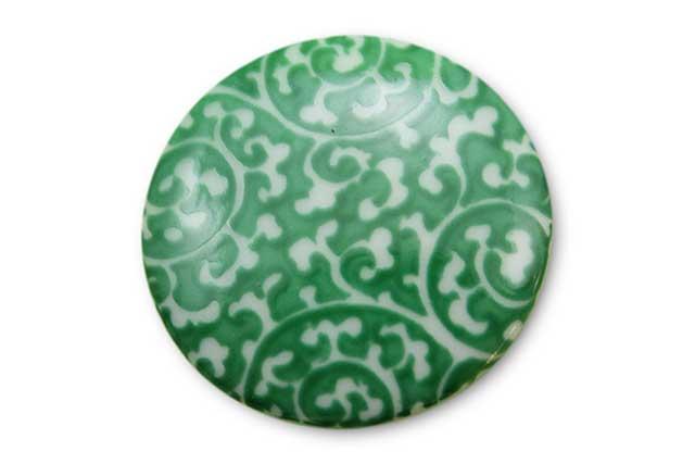 やきもの 焼き物 陶磁器 アクセサリー 小物雑貨 有田焼ゴルフマーカー(クリップ式) 緑唐草