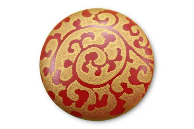 やきもの 焼き物 陶磁器 アクセサリー 小物雑貨 有田焼ゴルフマーカー(クリップ式) 赤金唐草