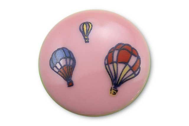 やきもの 焼き物 陶磁器 アクセサリー 小物雑貨 有田焼ゴルフマーカー(クリップ式) ピンクバルーン
