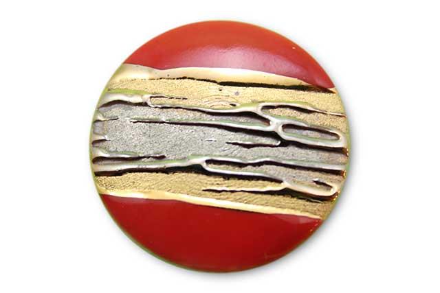 やきもの 焼き物 陶磁器 アクセサリー 小物雑貨 有田焼ゴルフマーカー(クリップ式) 流星レッド