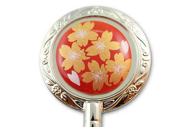 有田焼バッグ掛け(ハンガー型) 赤金桜