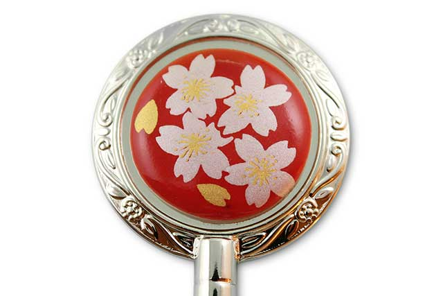 有田焼バッグ掛け(ハンガー型) 赤銀桜