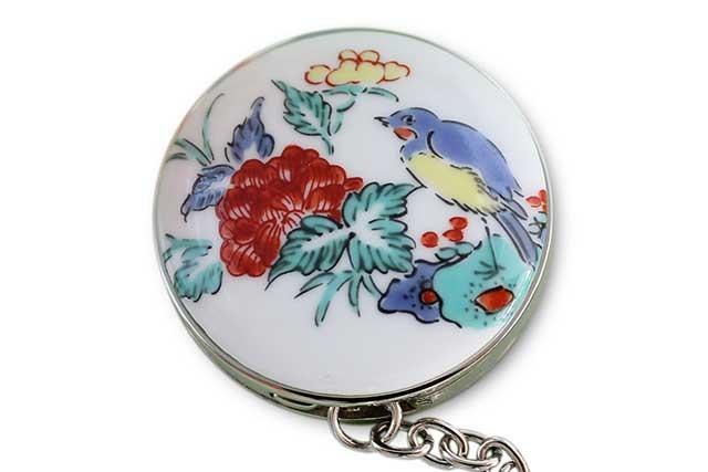 有田焼バッグ掛け(サークル型)  花鳥