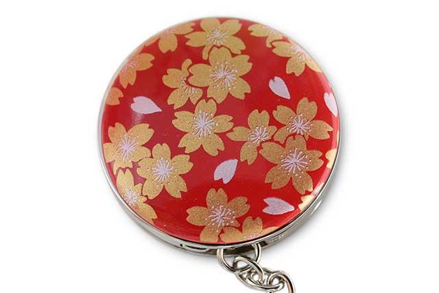有田焼バッグ掛け(サークル型)  赤金桜