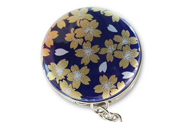 有田焼バッグ掛け(サークル型)  るり金桜