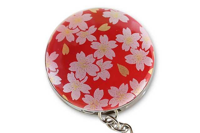 有田焼バッグ掛け(サークル型)  赤銀桜
