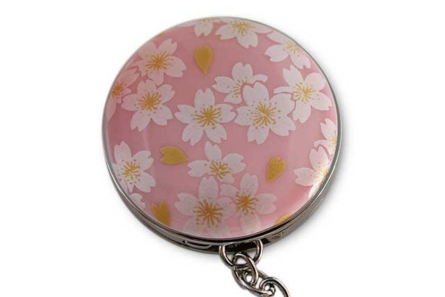 有田焼バッグ掛け(サークル型)  ピンク銀桜