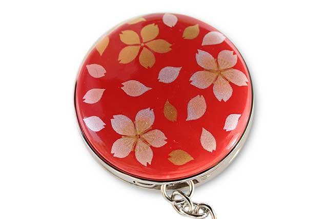 有田焼バッグ掛け(サークル型)  赤桜吹雪