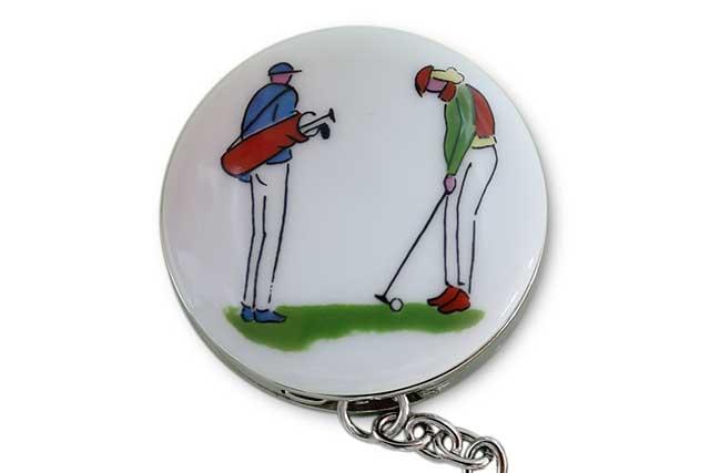 有田焼バッグ掛け(サークル型)  ゴルファー