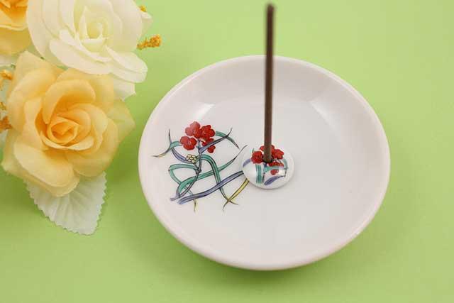 やきもの 焼き物 陶磁器 アクセサリー 小物雑貨 有田焼香立て つゆ草