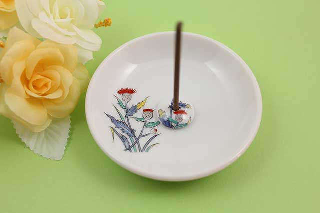 やきもの 焼き物 陶磁器 アクセサリー 小物雑貨 有田焼香立て アザミ