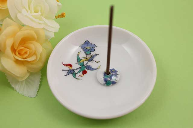 やきもの 焼き物 陶磁器 アクセサリー 小物雑貨 有田焼香立て キキョウ