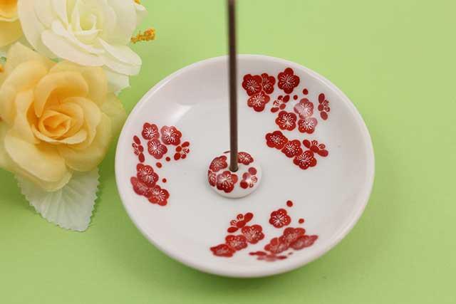 やきもの 焼き物 陶磁器 アクセサリー 小物雑貨 有田焼香立て 梅