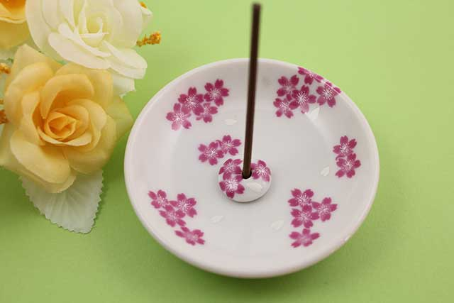 やきもの 焼き物 陶磁器 アクセサリー 小物雑貨 有田焼香立て 桜