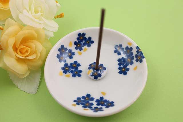 やきもの 焼き物 陶磁器 アクセサリー 小物雑貨 有田焼香立て ブルー桜