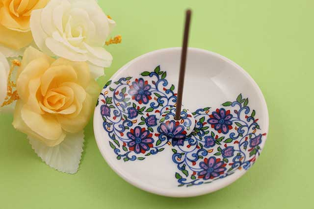 やきもの 焼き物 陶磁器 アクセサリー 小物雑貨 有田焼香立て 花唐草