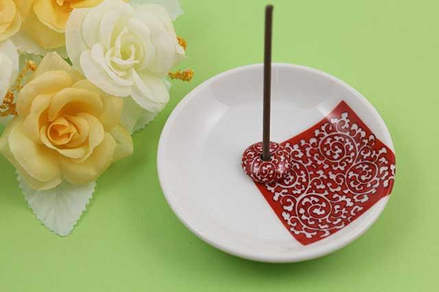 やきもの 焼き物 陶磁器 アクセサリー 小物雑貨 有田焼香立て 赤唐草