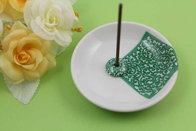 やきもの 焼き物 陶磁器 アクセサリー 小物雑貨 有田焼香立て 緑唐草