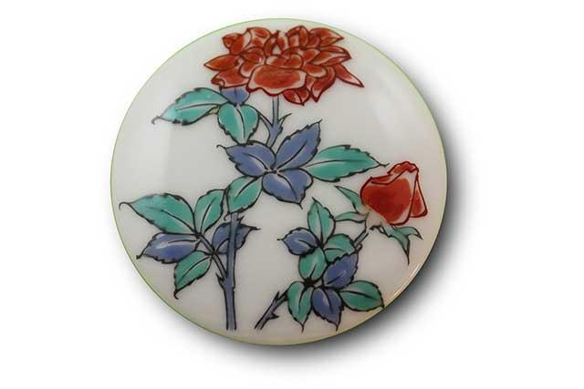 やきもの 焼き物 陶磁器 アクセサリー 小物雑貨 有田焼マグネット バラ