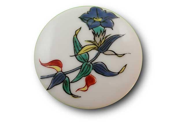 やきもの 焼き物 陶磁器 アクセサリー 小物雑貨 有田焼マグネット キキョウ