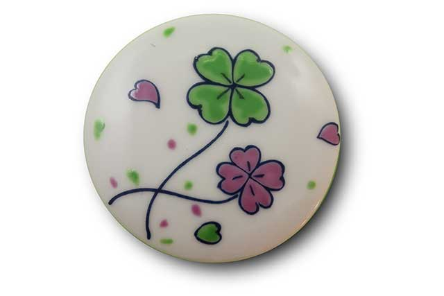 やきもの 焼き物 陶磁器 アクセサリー 小物雑貨 有田焼マグネット クローバー