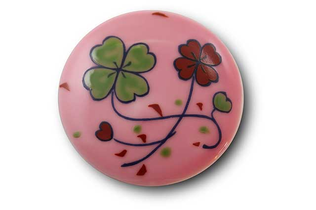 やきもの 焼き物 陶磁器 アクセサリー 小物雑貨 有田焼マグネット ピンククローバー