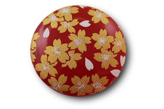 やきもの 焼き物 陶磁器 アクセサリー 小物雑貨 有田焼マグネット 赤金桜