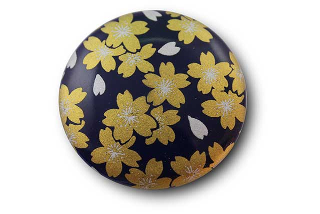 やきもの 焼き物 陶磁器 アクセサリー 小物雑貨 有田焼マグネット るり金桜