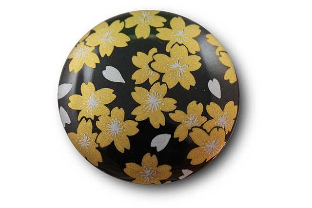 やきもの 焼き物 陶磁器 アクセサリー 小物雑貨 有田焼マグネット 黒金桜