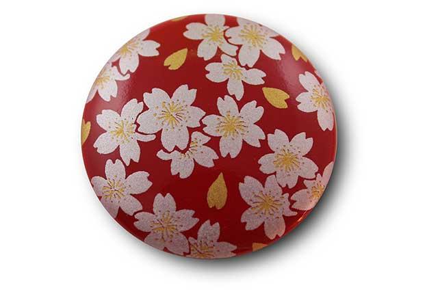やきもの 焼き物 陶磁器 アクセサリー 小物雑貨 有田焼マグネット 赤銀桜