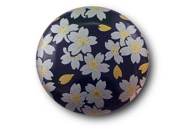 やきもの 焼き物 陶磁器 アクセサリー 小物雑貨 有田焼マグネット るり銀桜