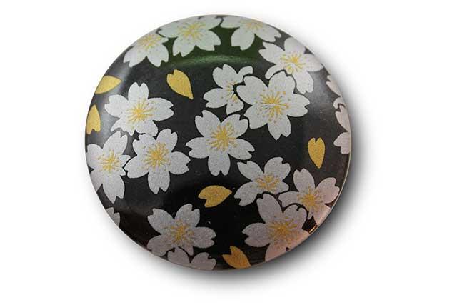 やきもの 焼き物 陶磁器 アクセサリー 小物雑貨 有田焼マグネット 黒銀桜