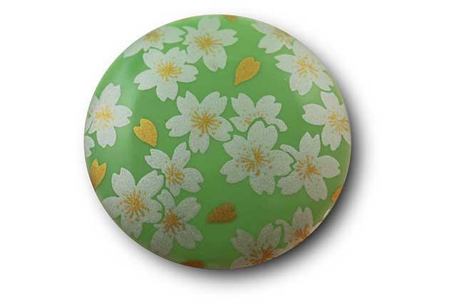 やきもの 焼き物 陶磁器 アクセサリー 小物雑貨 有田焼マグネット グリーン銀桜