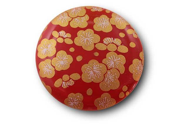 やきもの 焼き物 陶磁器 アクセサリー 小物雑貨 有田焼マグネット 赤金梅