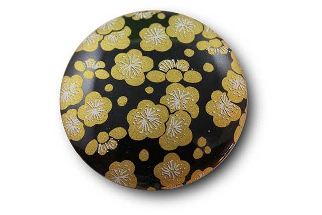 やきもの 焼き物 陶磁器 アクセサリー 小物雑貨 有田焼マグネット 黒金梅