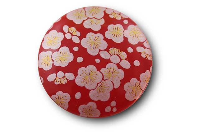 やきもの 焼き物 陶磁器 アクセサリー 小物雑貨 有田焼マグネット 赤銀梅