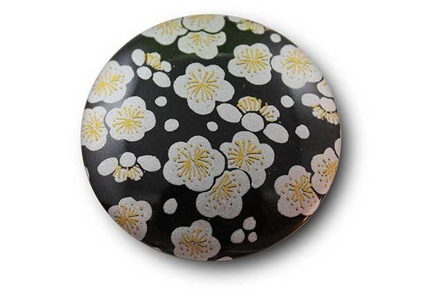 やきもの 焼き物 陶磁器 アクセサリー 小物雑貨 有田焼マグネット 黒銀梅