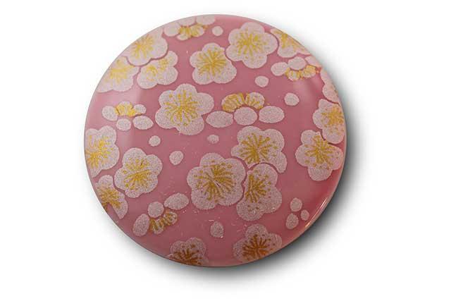 やきもの 焼き物 陶磁器 アクセサリー 小物雑貨 有田焼マグネット ピンク銀梅