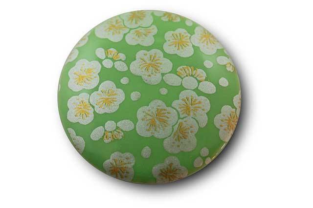 やきもの 焼き物 陶磁器 アクセサリー 小物雑貨 有田焼マグネット グリーン銀梅