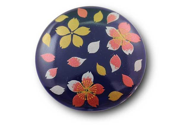 やきもの 焼き物 陶磁器 アクセサリー 小物雑貨 有田焼マグネット るり桜吹雪(赤)